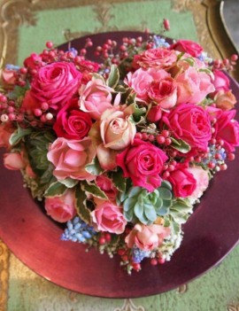 Flower arrangement heart